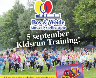 Stormachtige Kidsruntraining 5 september